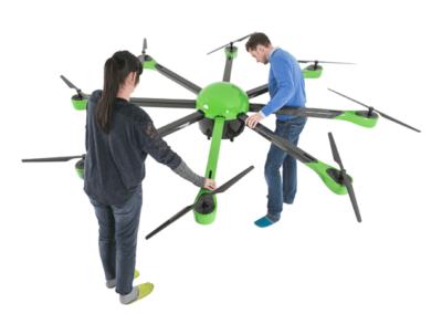 Die Drohne in Ihrer vollen Größe